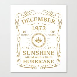 December 1972 Sunshine mixed Hurricane Canvas Print