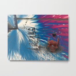 Flashing Metal Print