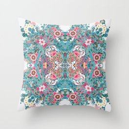 Blossoming Mandala Throw Pillow