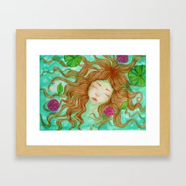 Sometimes it's Hard to Tell the Water From My Tears Framed Art Print