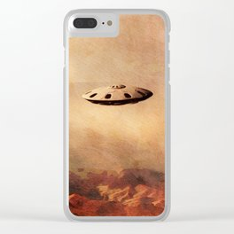 UFO in the Rockies Clear iPhone Case