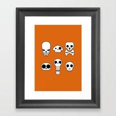 All skulls, all the time. Framed Art Print