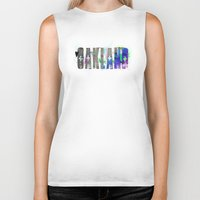 oakland Biker Tanks featuring Oakland by Tonya Doughty