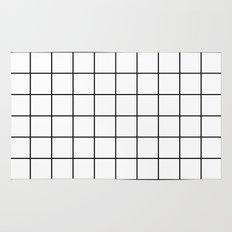 White Grid Rug