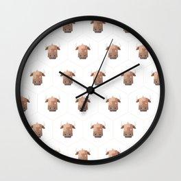 Hexagon's Cow design Wall Clock
