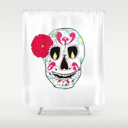 Calaca Shower Curtain