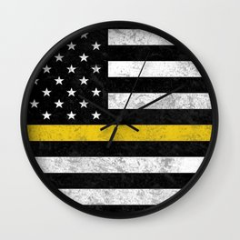 Thin Gold Line Flag Wall Clock