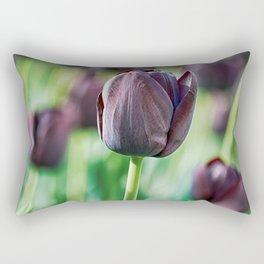 Black Tulip Rectangular Pillow