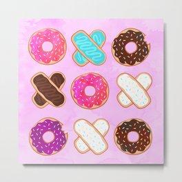 XOXO Donuts Metal Print