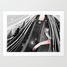 Snowtorm Art Print