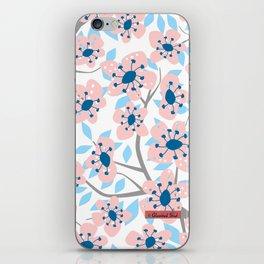White Blossoms iPhone Skin
