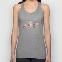 Toy Collection #2 Bear Driving a Car Unisex Tank Top