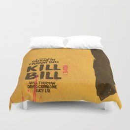 Kill Bill, Quentin Tarantino Movie Poster, Alternative film playbill Art, Uma Thurman, Lucy Liu Duvet Cover