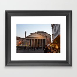 the pantheon Framed Art Print