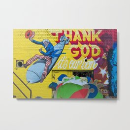 Thank pop art Metal Print