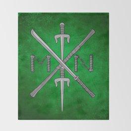 Weapons Down - TMNT Throw Blanket