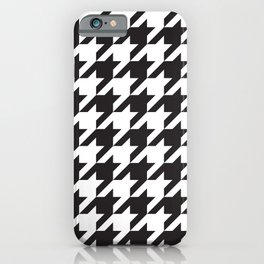 Houndstooth (Black and White) iPhone Case