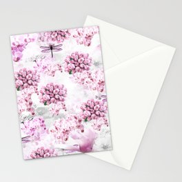 ORCHIDS ROSES MAGNOLIAS and Dragonflies Stationery Cards