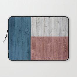 minimalist wooden Texas flag Laptop Sleeve