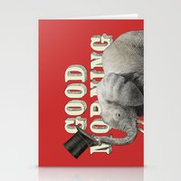 good morning Stationery Cards featuring Good Morning by Eric Fan