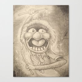 Animal in Pencil Canvas Print