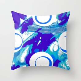 My Blue  Mood                           by Kay Lipton Throw Pillow