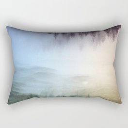 flipped forest Rectangular Pillow