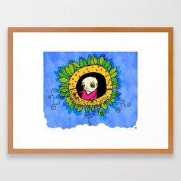 flower machine Framed Art Print