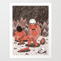 death Art Prints featuring Death in Space by Jack Teagle