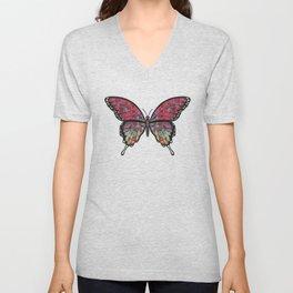 psychedelic Miranda (Mirandus psykhedelos) fantasy butterfly Unisex V-Neck