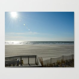 Sun Over the Ocean Canvas Print