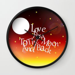 To The Moon Wall Clock