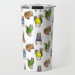 Squirrels with Jumpers Travel Mug