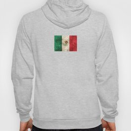 Vintage Aged and Scratched Mexican Flag Hoody