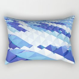 Blue waves Rectangular Pillow
