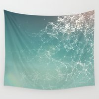 physics Wall Tapestries featuring Fresh summer abstract background. Connecting dots, lens flare by AMULET