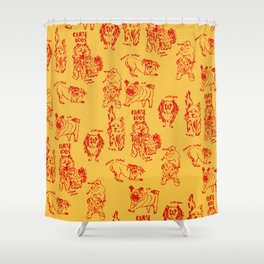 Chinese Dogs Shower Curtain