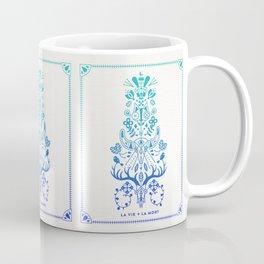 La Vie & La Mort – Blue Ombré Coffee Mug