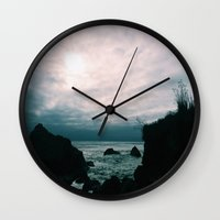 big sur Wall Clocks featuring Big Sur by GBret