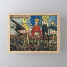 Doctrinal Nourishment (World Powers, Religion, Big Business) portrait painting by James Ensor Framed Mini Art Print