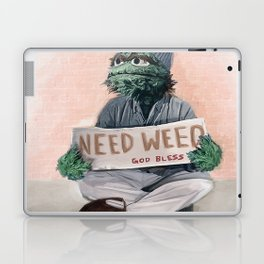 Oscar The Grouch Needs Weed - Sesame Street Laptop & iPad Skin