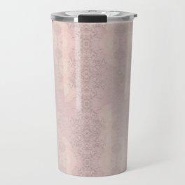 Floral Lace // Pink Semi-Circles Travel Mug