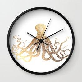 Gold Octopus  Wall Clock