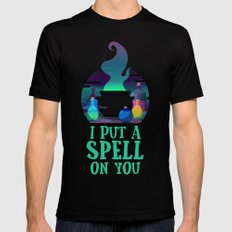 I put a spell on you Mens Fitted Tee Black X-LARGE