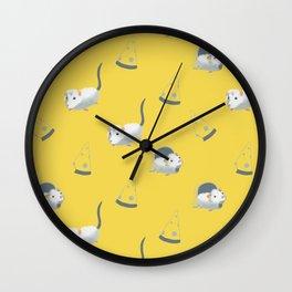 Mice and cheese Wall Clock