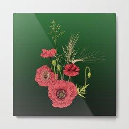 Poppylove Metal Print