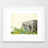 waterfall Framed Art Prints featuring Waterfall by Cassia Beck