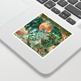 Cthulhu vs Godzilla Sticker