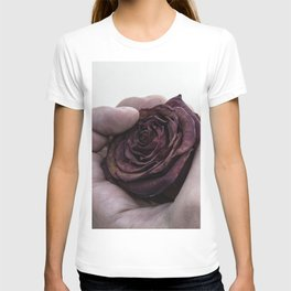 Hand Clutching a Dying Rose T-shirt