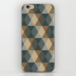 Caffeination Geometric Hexagonal Repeat Pattern iPhone Skin